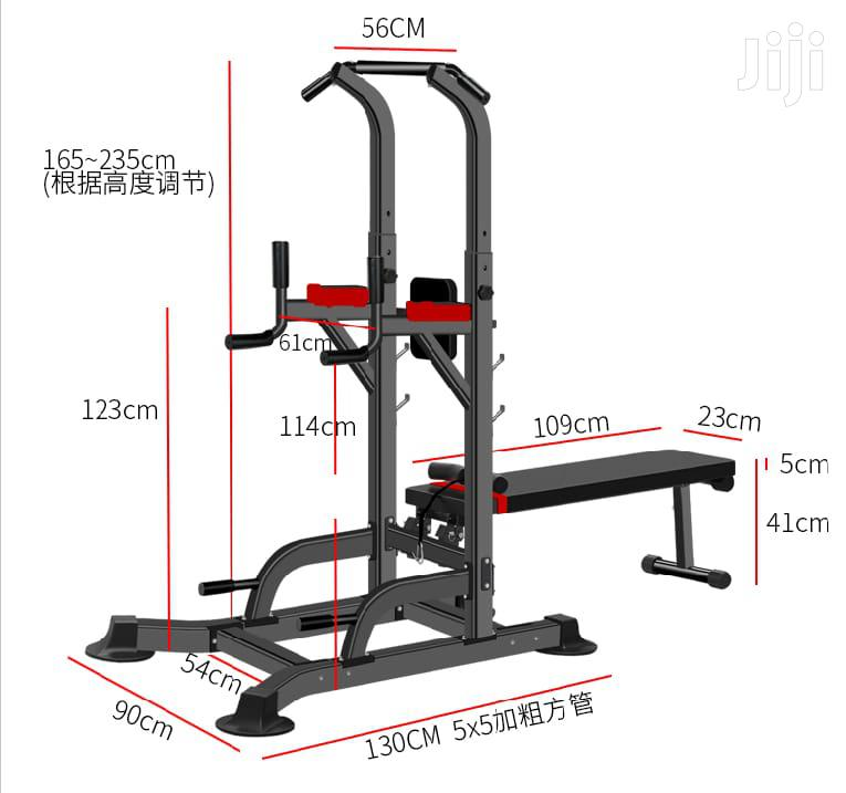 2 in 1 Chin Dip and Bench Press Power Tower