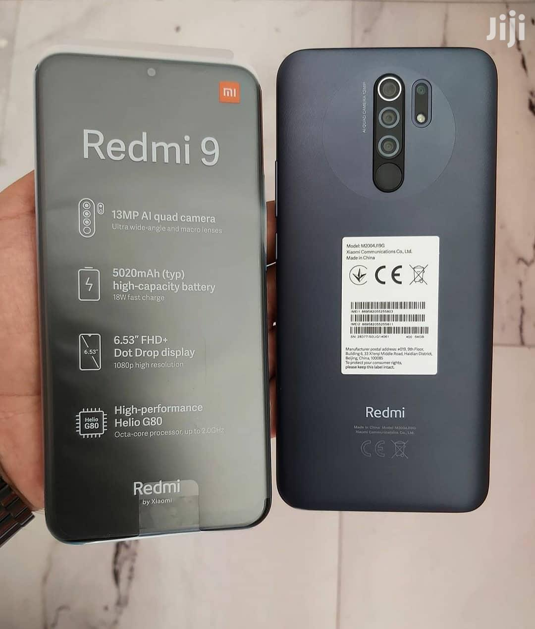 New Xiaomi Redmi 9 64 GB Black