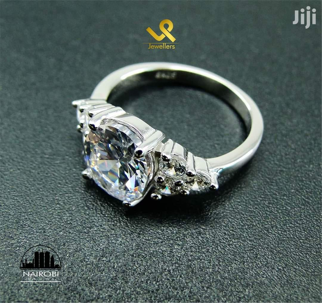 Ready Made Sterling Silver Ladies Engagement Ring In Nairobi