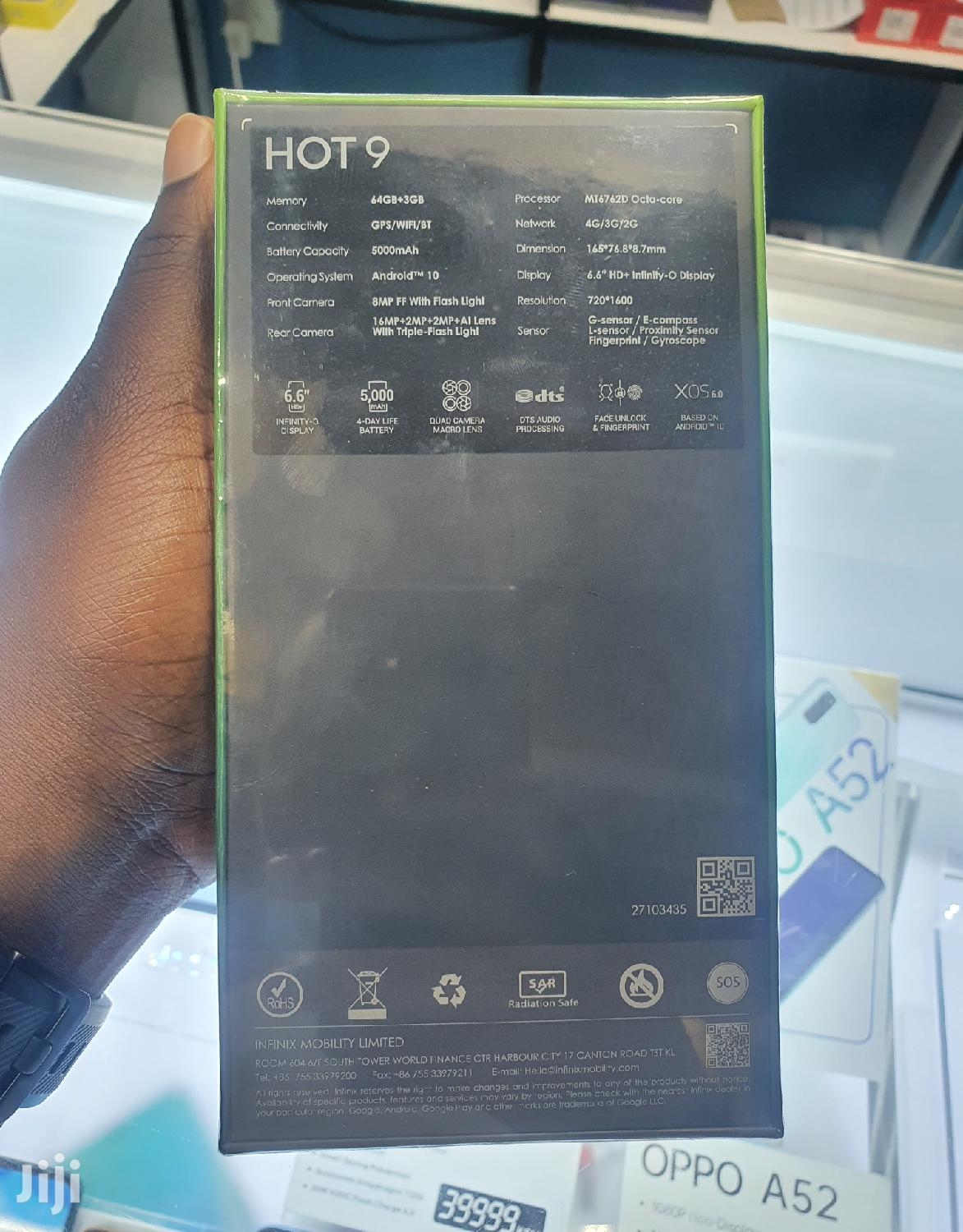 New Infinix Hot 9 32 GB Silver | Mobile Phones for sale in Nairobi Central, Nairobi, Kenya