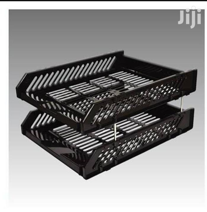 Office Tray 2tier, Black Blue Plastic | Home Accessories for sale in Nairobi Central, Nairobi, Kenya