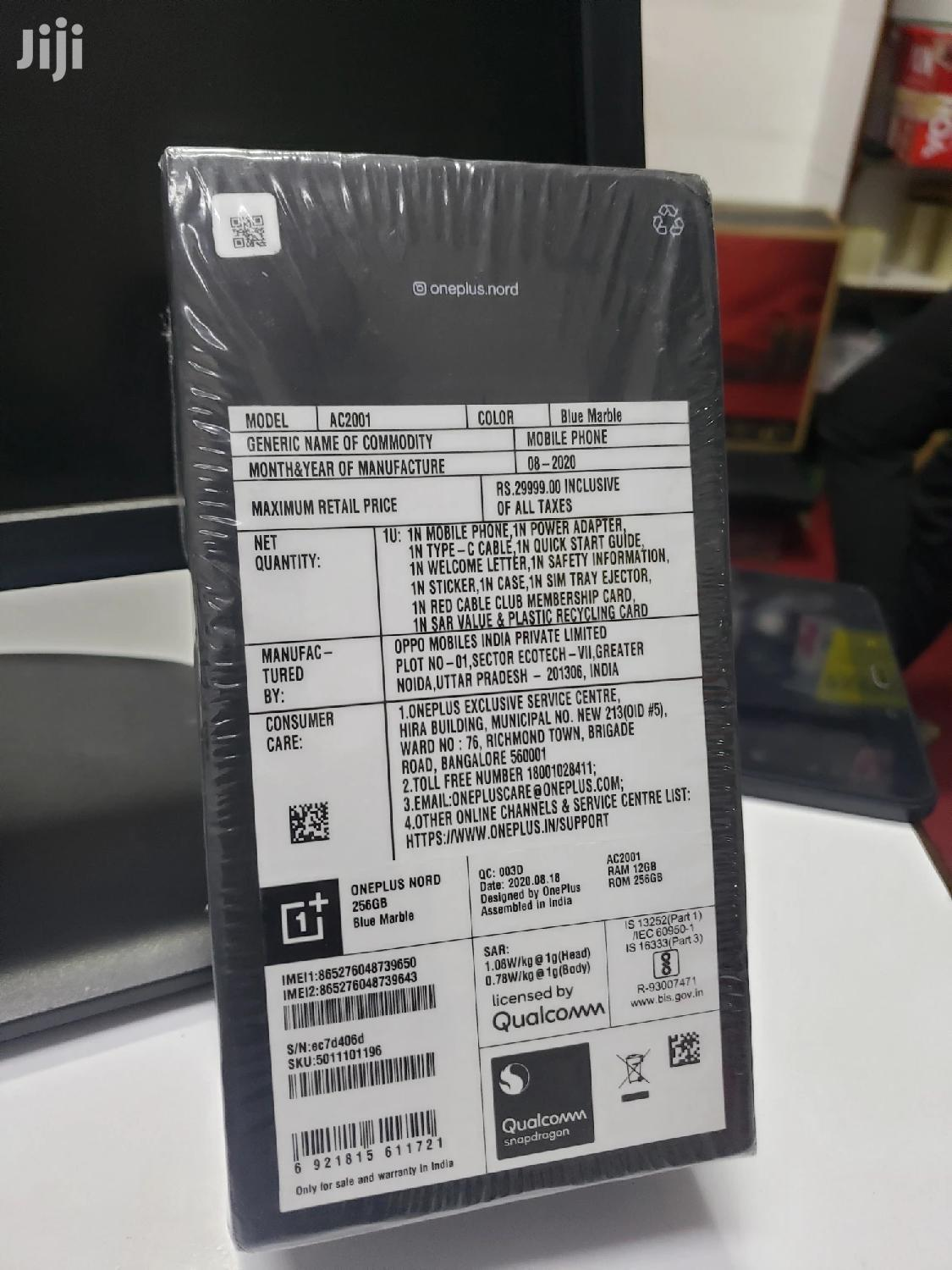 New OnePlus Nord 256 GB | Mobile Phones for sale in Nairobi Central, Nairobi, Kenya