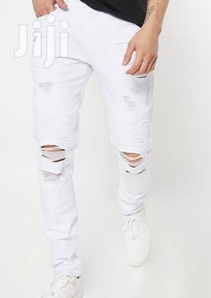 Quality Off White Slim Fit Jeans   Clothing for sale in Nairobi, Nairobi Central