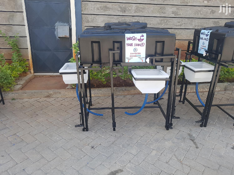 3 Sinks Handwashing Station