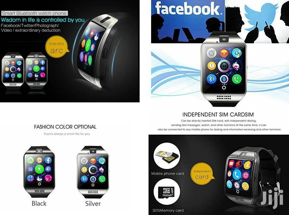 Archive: Black ZZYD Q18 Bluetooth Smart Watch For Android Phones With