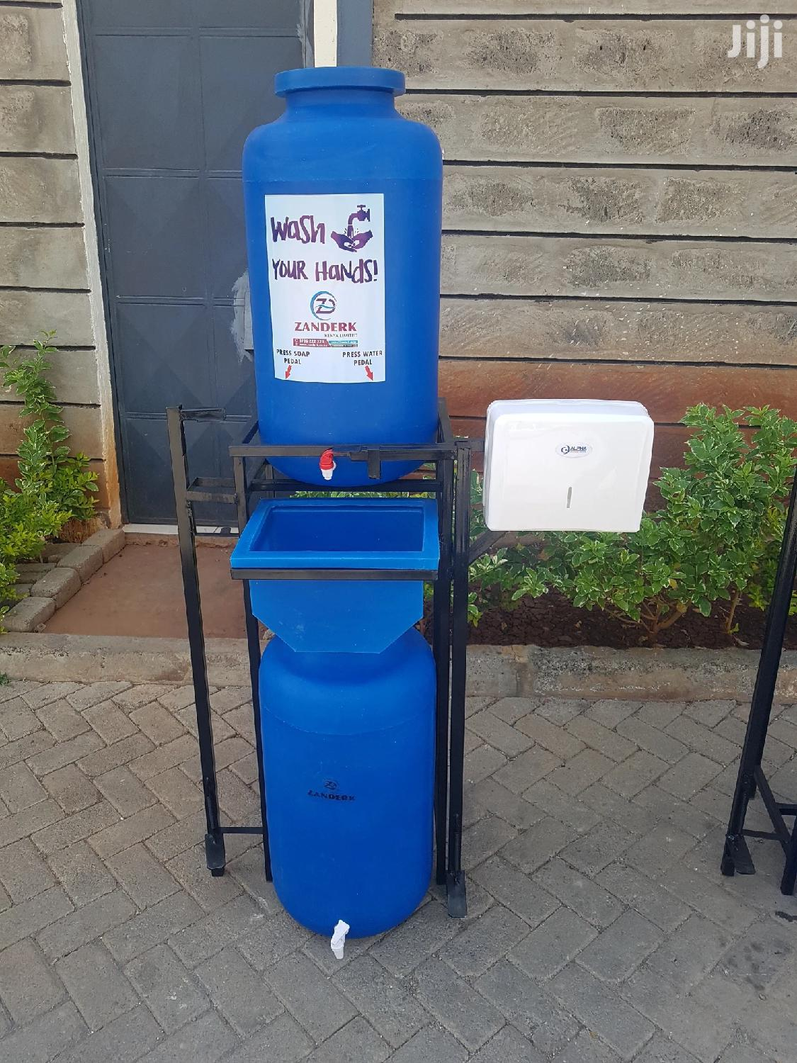 Double Pedal With Twin 60 Litres Handwashing Station