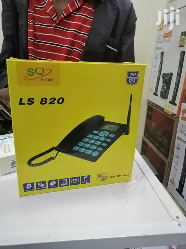 SQ Mobile GSM Fixed Wireless Desktop Phone Landline With Dua