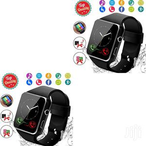 Black X6 Smart Watch With Sim And Memory Card | Smart Watches & Trackers for sale in Nairobi, Nairobi Central