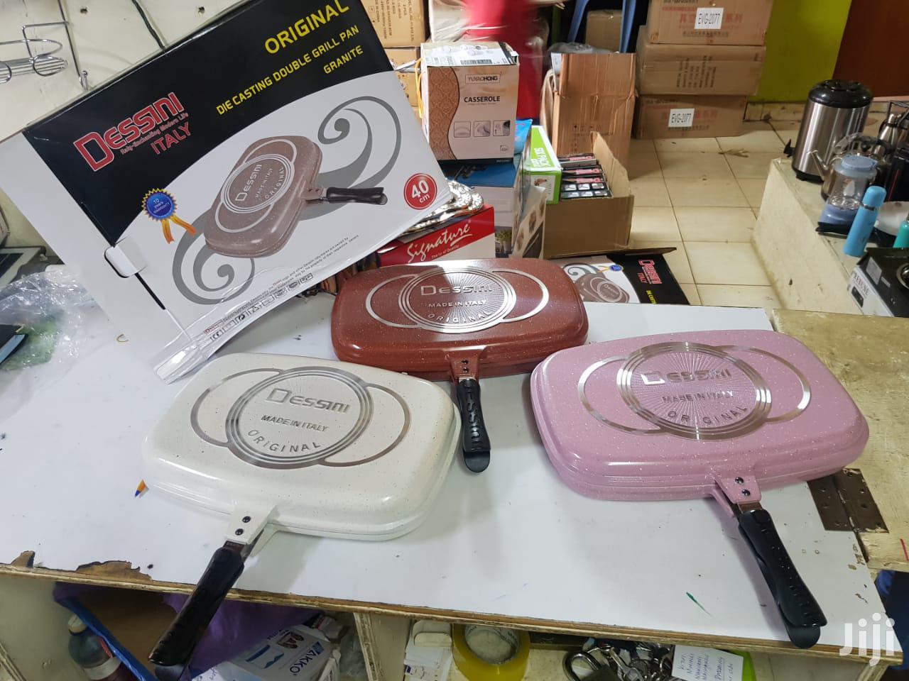 Dessini Coloured Granite Double Grill Pan. 40cm