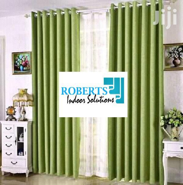 Jungle Green Plain Curtains