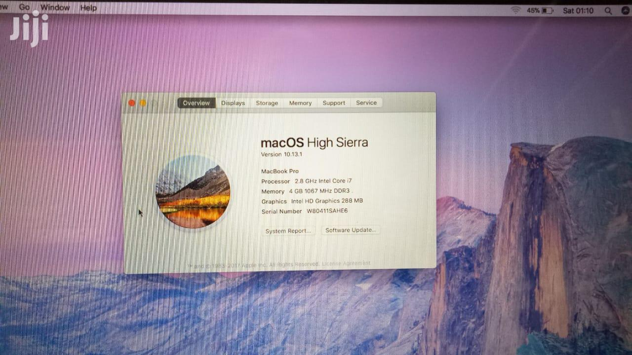"Laptop Apple MacBook Pro 15.6"" 1TB HDD 4GB RAM   Laptops & Computers for sale in Nairobi Central, Nairobi, Kenya"