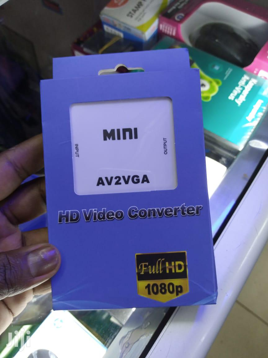 New Video Converter Mini AV2VGA Convertor Box