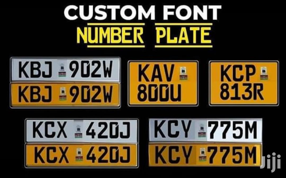 Customized Legal Number Plates In Kilimani Vehicle Parts Accessories True Pro Solutions Jiji Co Ke