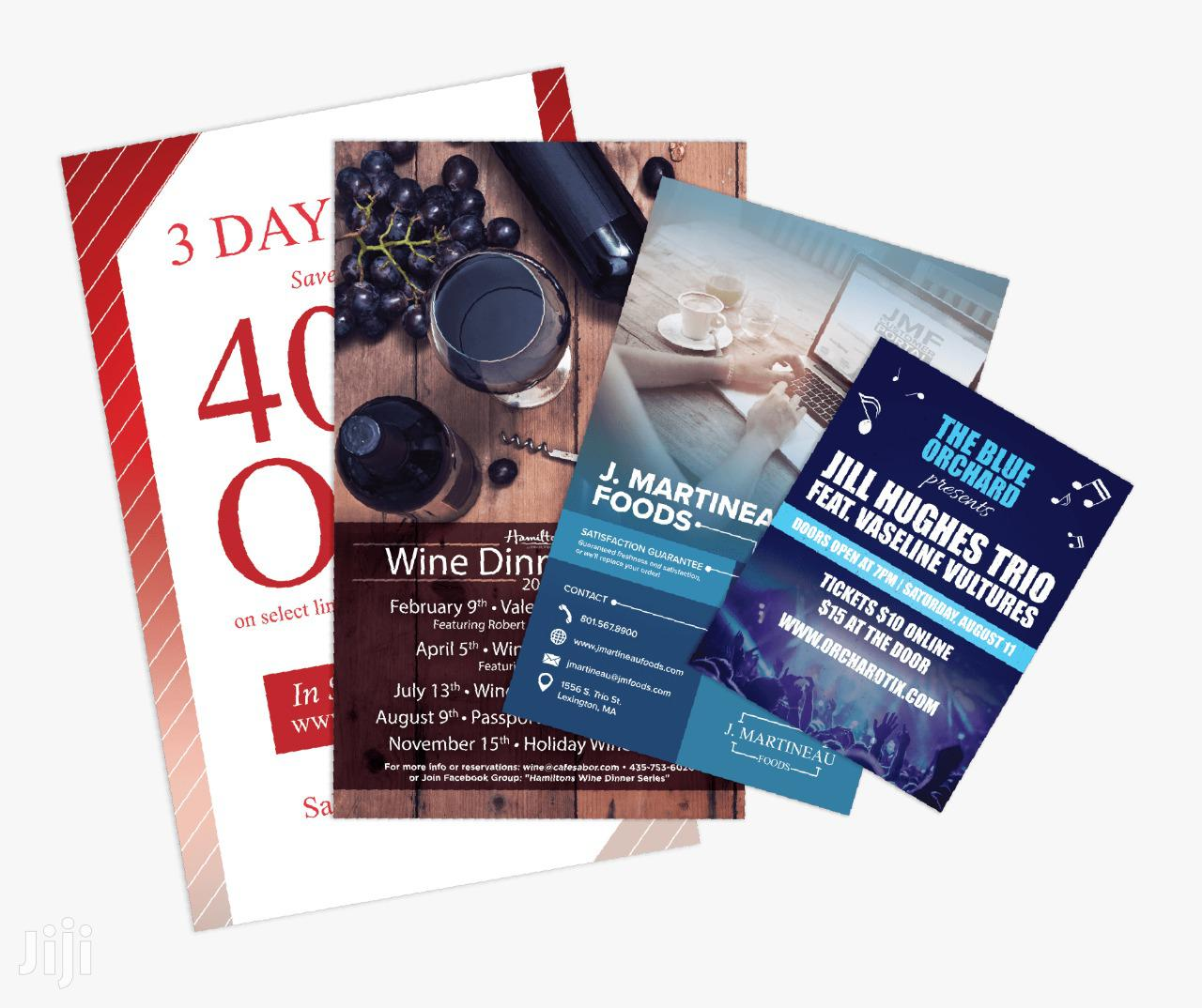 Archive: Flyers Printing Services Available