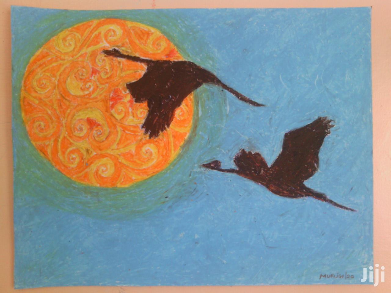 Drawing, Pastel,Birds