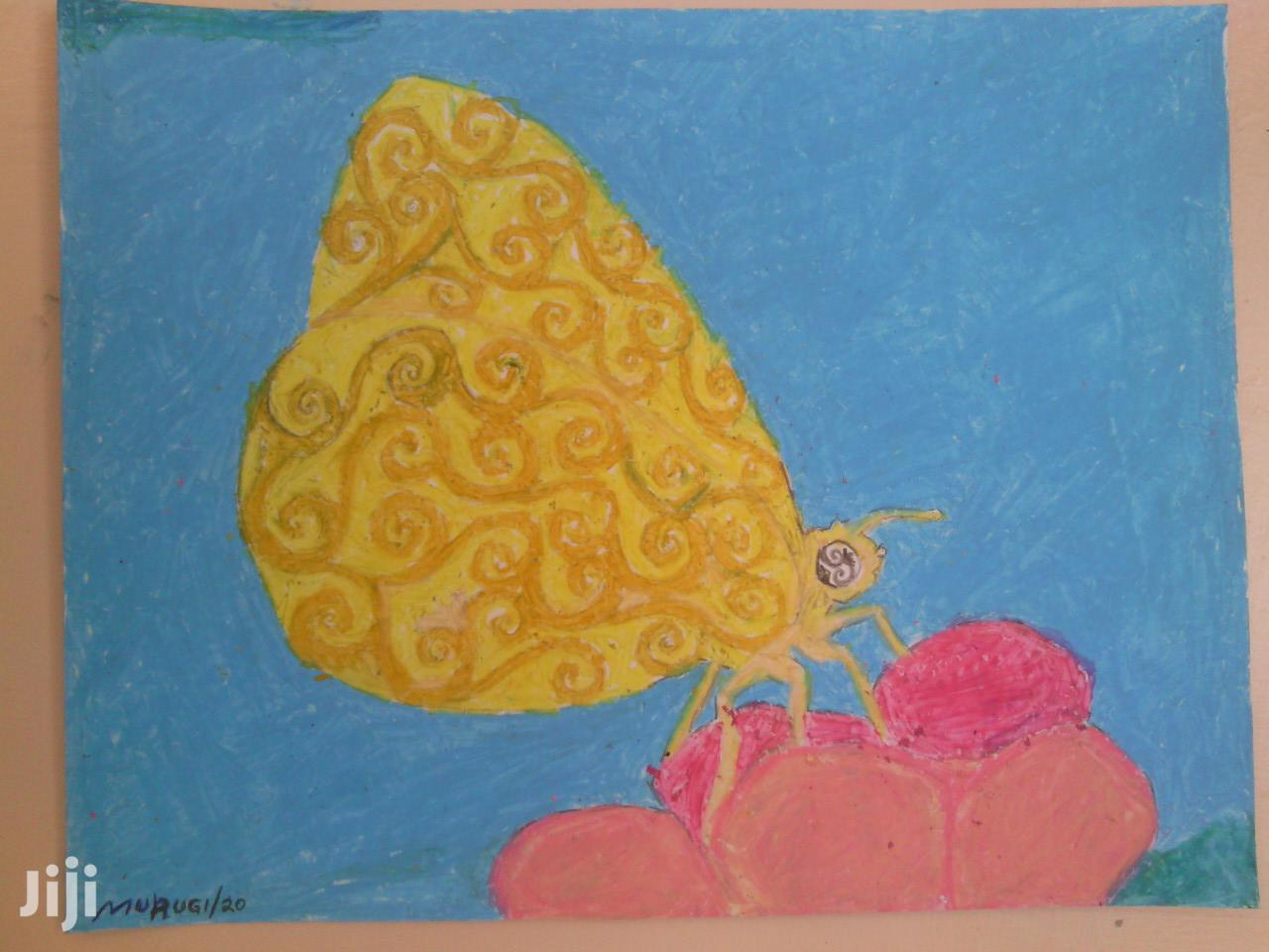Butterfly Drawing, Pastel