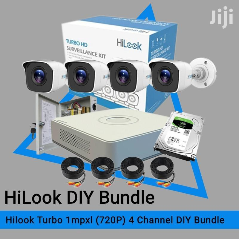 Four 4 Hilook By Hikvision 720p Complete System Kit Package