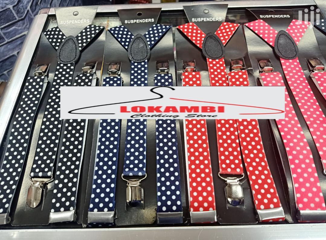 Polycadot Maroon Suspenders