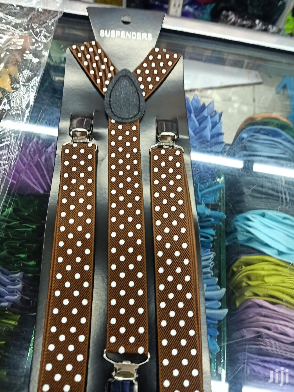 Polycadot Maroon Suspenders | Clothing Accessories for sale in Nairobi Central, Nairobi, Kenya