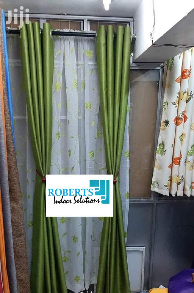 Green Plain Curtains