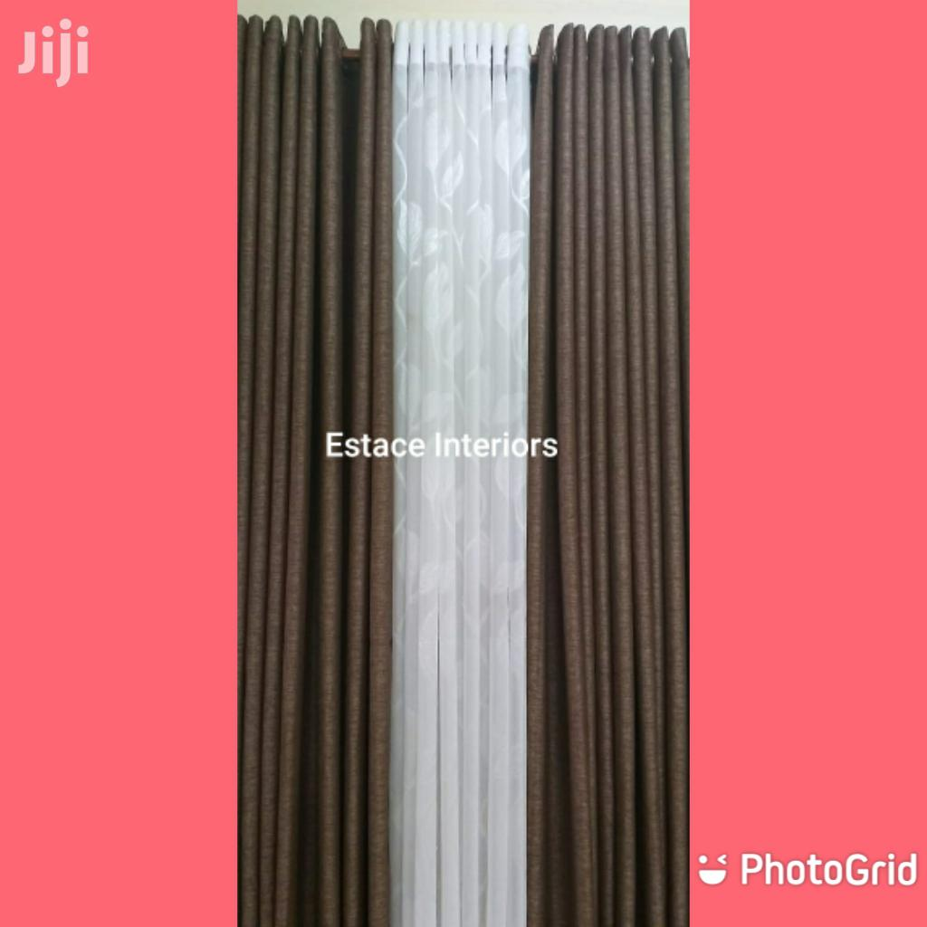 Curtains and Curtains Brown