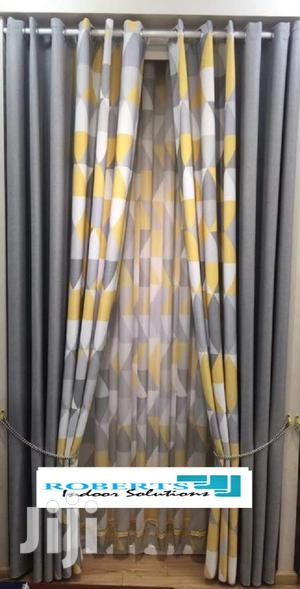 Grey and Yellow Printed Curtains   Home Accessories for sale in Nairobi, Nairobi Central