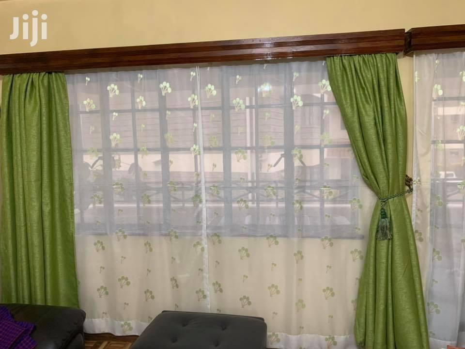 Decorative Plain Green Curtains