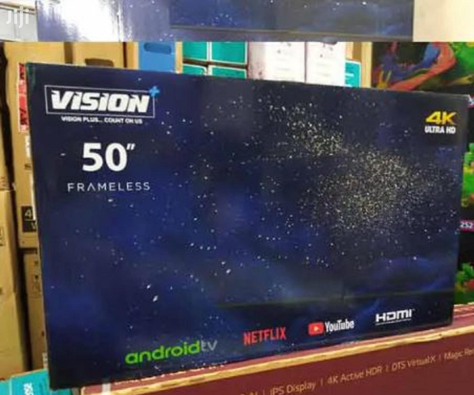 Vision Plus 50 Inch Frameless 4K UHD Smart Android Led TV