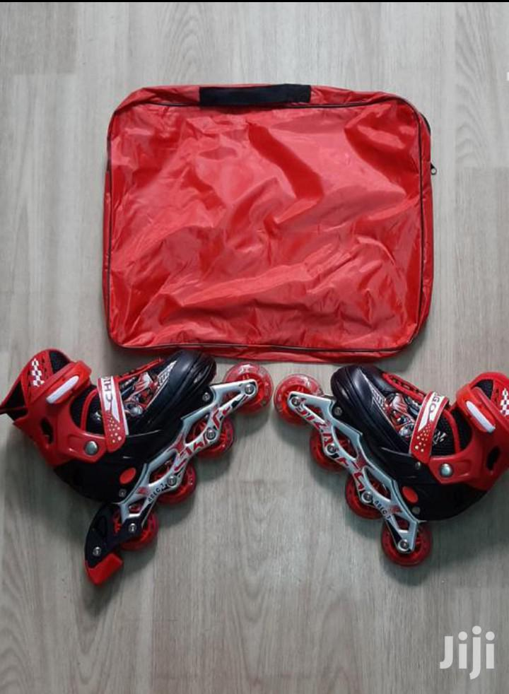Red And Black Skating Shoes