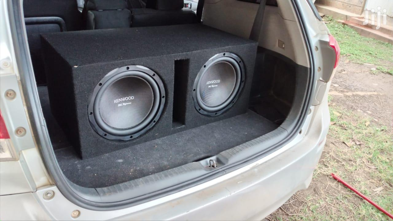 Dual KENWOOD HQR3000 Subwoofers in Slot Cabinet