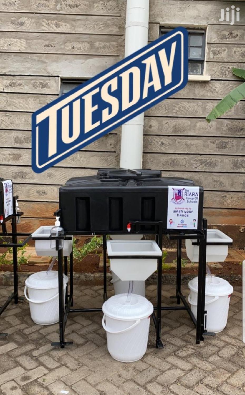 4 Sink Handwashing Station