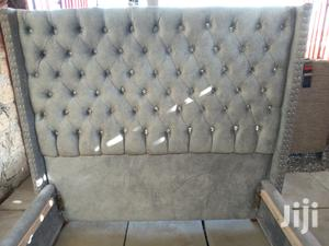 Turffed Headboard Bed 5*6   Furniture for sale in Nairobi, Makadara