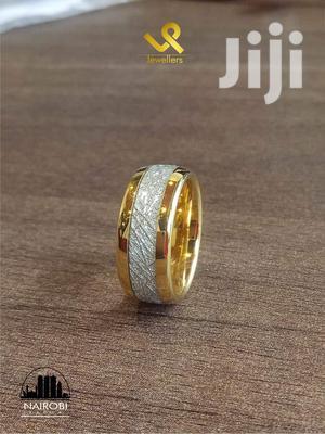 Custom 8mm Unisex Gold Finish Tungsten Carbide Wedding Ring   Wedding Wear & Accessories for sale in Nairobi, Nairobi Central
