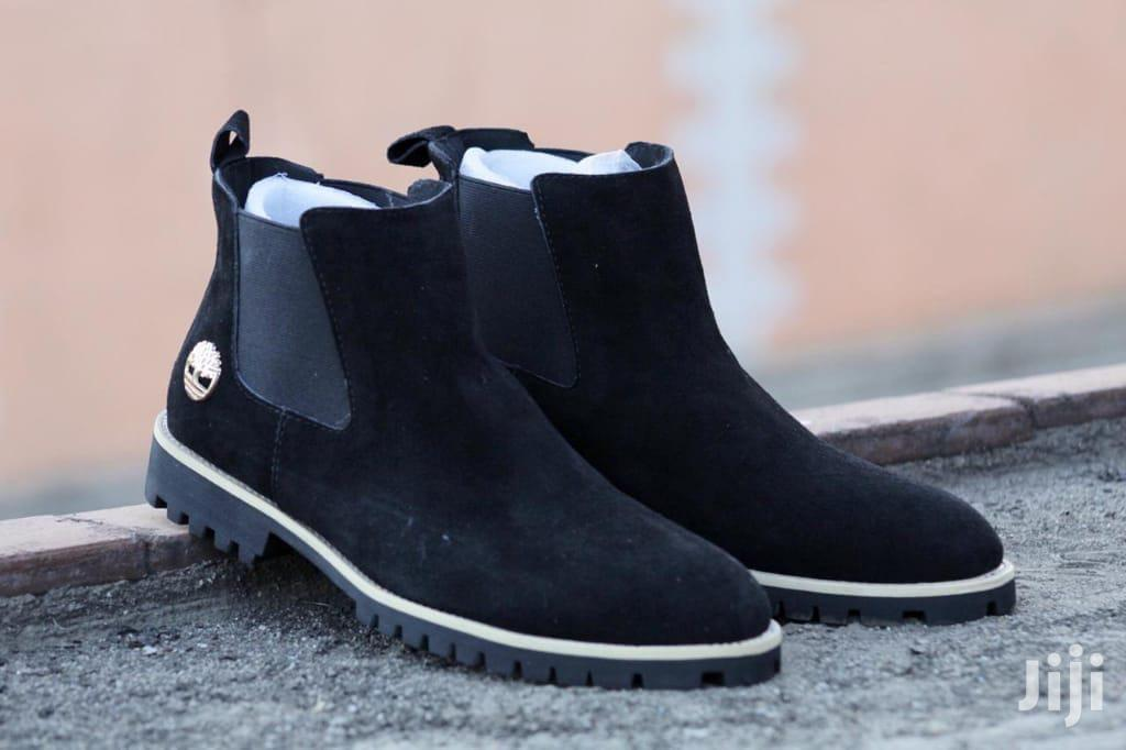 Archive: Black Timberland Chelsea Suede Boots