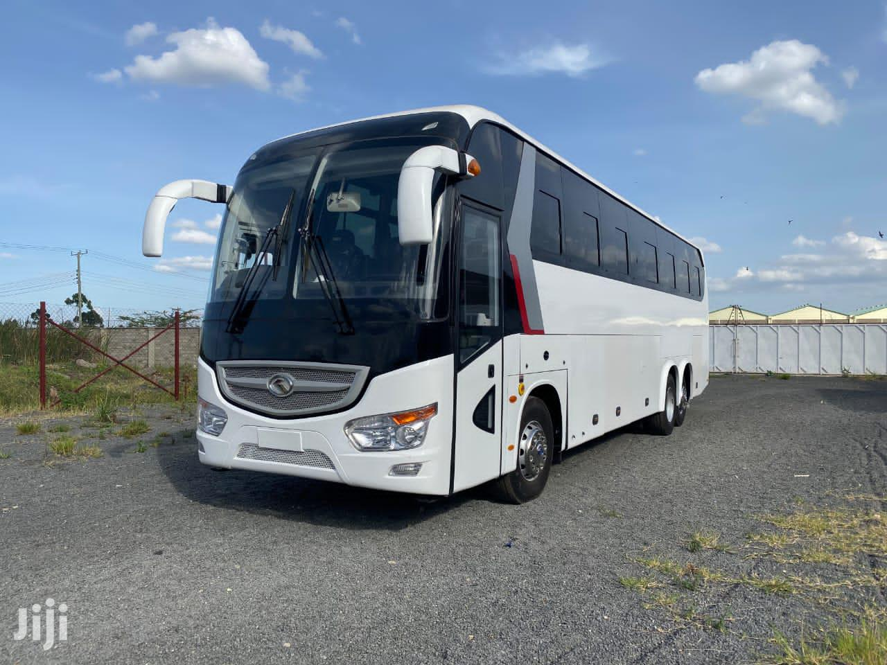 King Long Coach Bus White for Sale