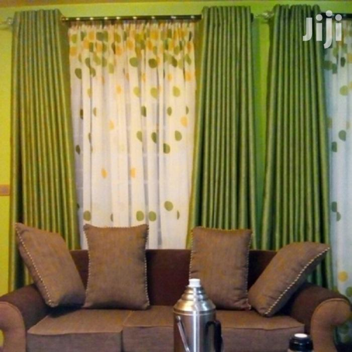 Fancy Plain Pink and Green Linen Curtains   Home Accessories for sale in Nairobi Central, Nairobi, Kenya