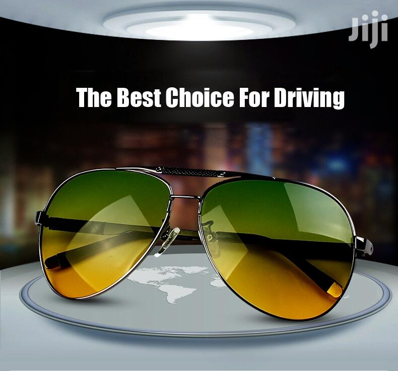 Day/Night Dual-Purpose Vision Driving Aviator Polarized Sunglasses