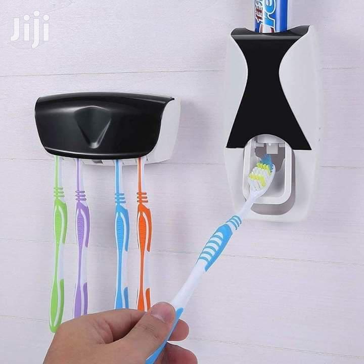 Toothbrush Holder+Toothpaste Dispenser