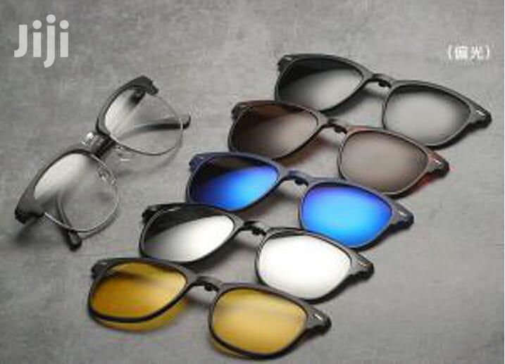 Polarized Clip-on Sunglasses- With 5 Clip-ons