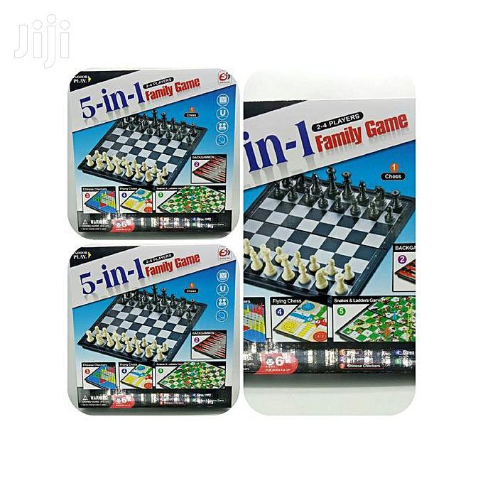 5 In 1 Family Game-chess, Snake& Ladder, | Books & Games for sale in Nairobi Central, Nairobi, Kenya
