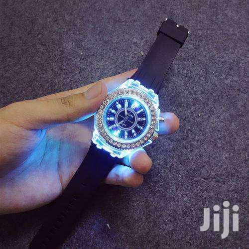 Geneva LED Backlight Crystal Wrist Watch