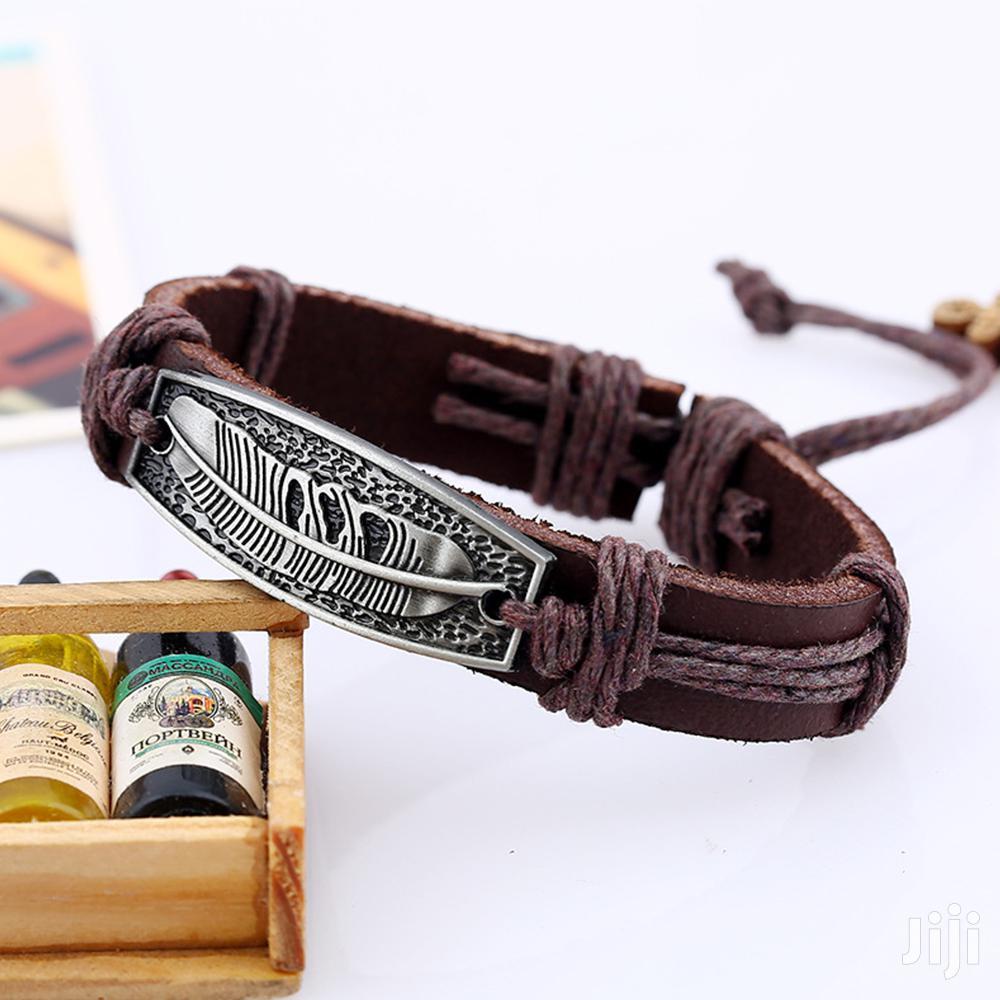 Fashion Leather Bracelet - SQR-4