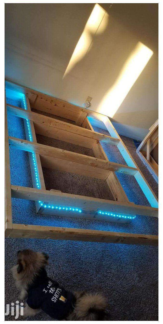 Floating Bed With Neon Lights | Furniture for sale in Kisauni, Mombasa, Kenya