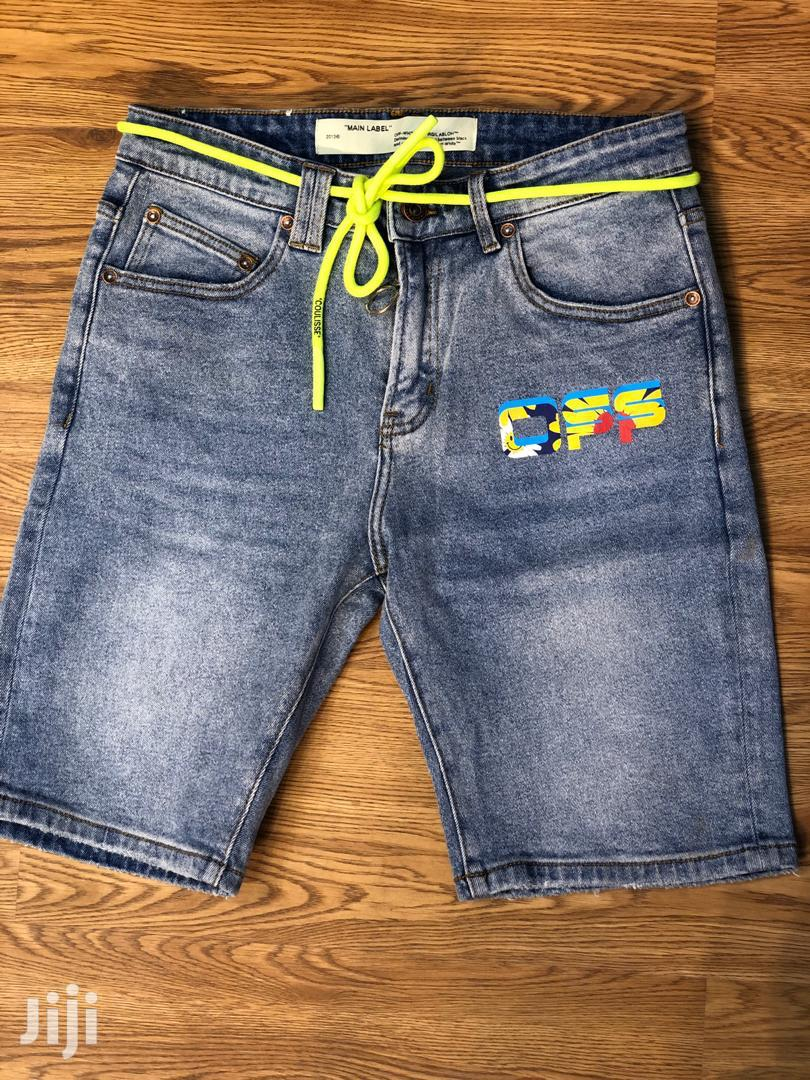 Archive: Off-White Designer Short Jeans Available at 1800