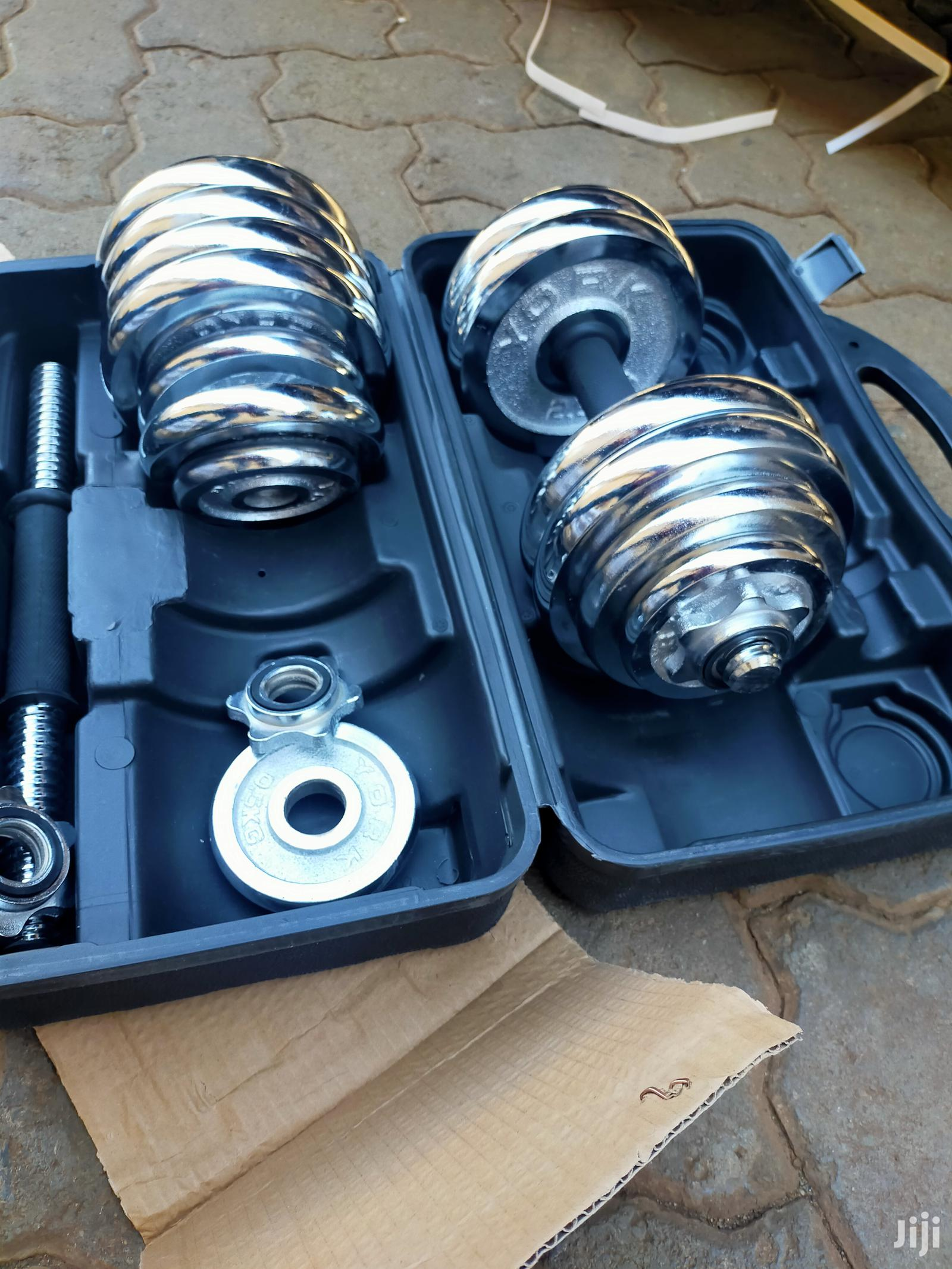 30 Kg Dumbell Set Adjustable Heavy Duty With Briefcase Porta