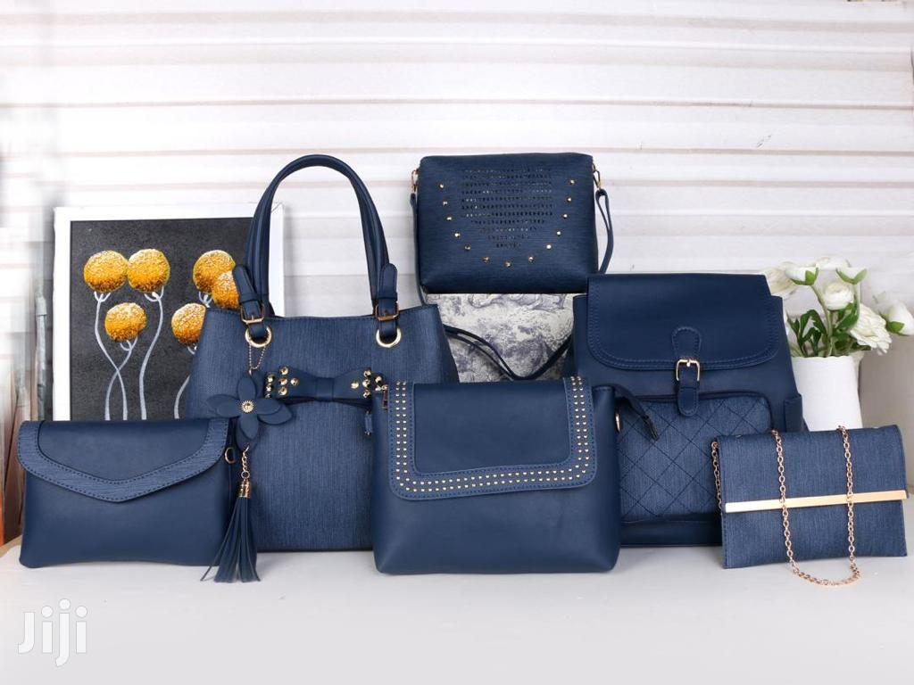 6 In 1 Pure Leather Handbags