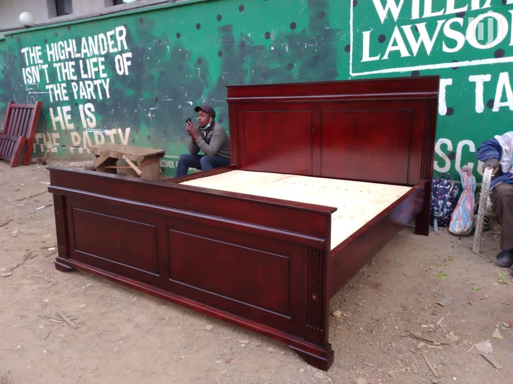 5 by 6 Pure Mahogany Bed