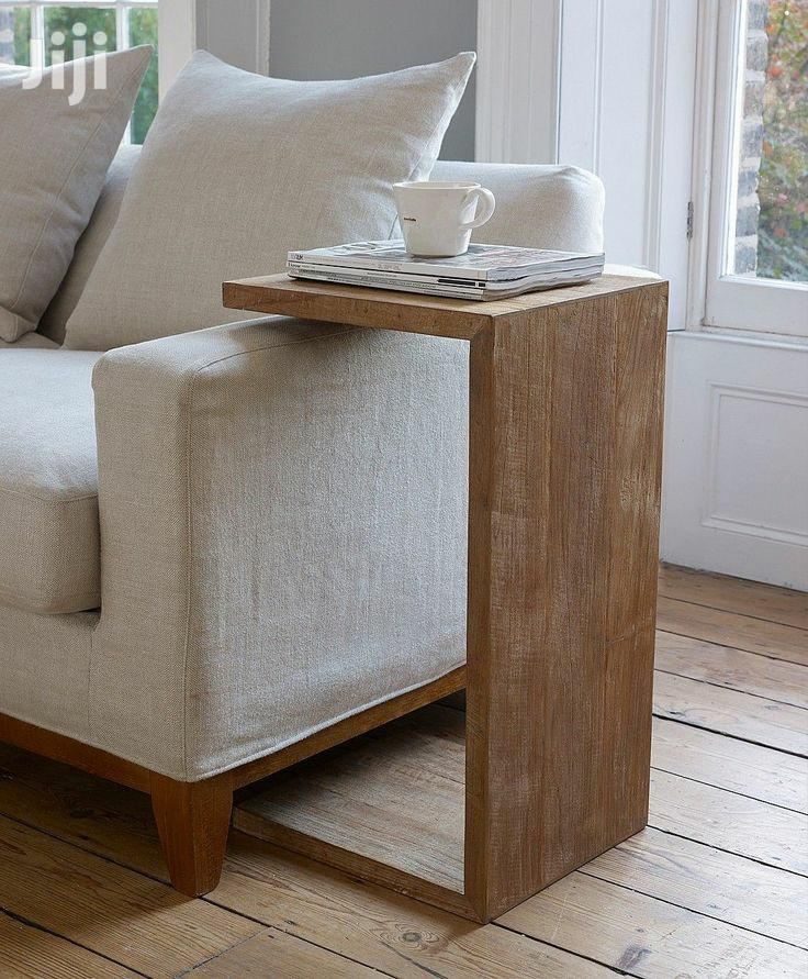 Sofa Chair Arm Rest Table Stand With Storage Pockets