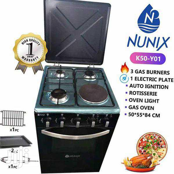 3gas +1 Electric Plate Stand Cooker With Gas Oven Available
