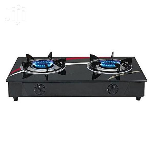 Rashnik RN-1509, 2 Burner Gas Stove - Black
